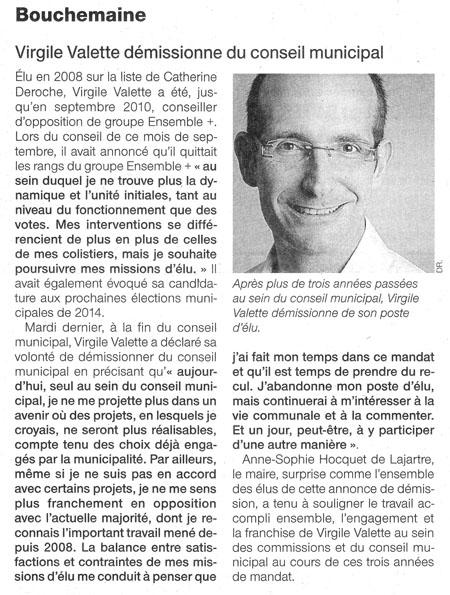 Agrandir l'article de Ouest France