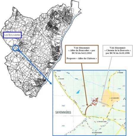 Plan annexé à la délibération du 26 avril 2011