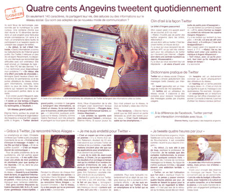 400 Angevins tweetent quotidiennement
